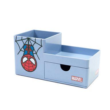 Organizador de escritorio y papelería con cajón Spider Man Marvel, Mediano, Azul