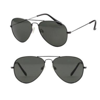 Gafas De Sol Para Hombre, Aviador, Negra