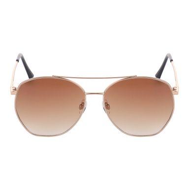 Gafas De Sol Para Mujer, Multilaterales De Doble Haz, Café