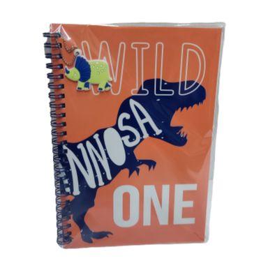 Cuaderno Argollado, A5 Serie Dinosaurios, Triceratops Naranja