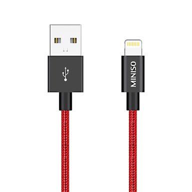 Cable De Carga, Usb A Lightning, Rojo 2.4 A