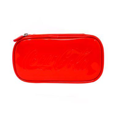 Cosmetiquera Doble Capa, Coca Cola, Rojo