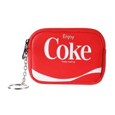 Monedero Para Llavero, Coke Coca Cola, Rojo