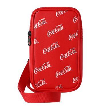 Bolso Cruzado, Para Telefono Letras Coca Cola, Rojo