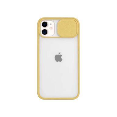 Case Para Celular, Iphone 11, Con Cubierta Deslizante Para Lente, Amarillo